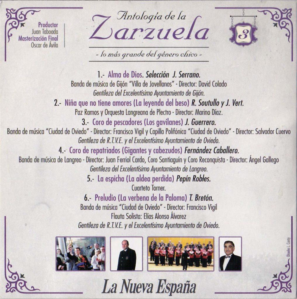 Antología de la zarzuela, 3b