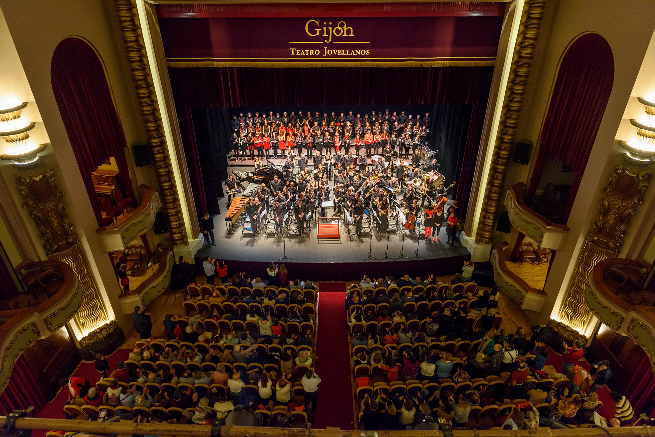 Banda de Música de Gijón en concierto en el Teatro Jovellanos de Gijón